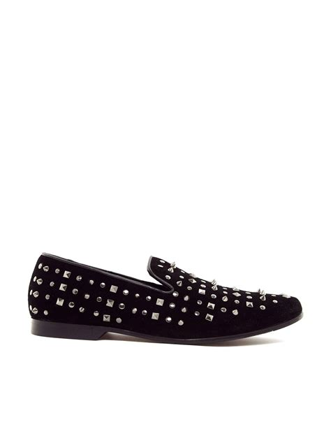 aldo slippers for lyst aldo coyan studded dress slippers in black for