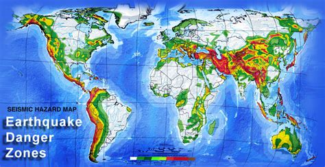 seismic zone map california earthquake danger zone map