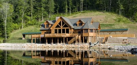log lake home house plans lake log cabin homes log lodge