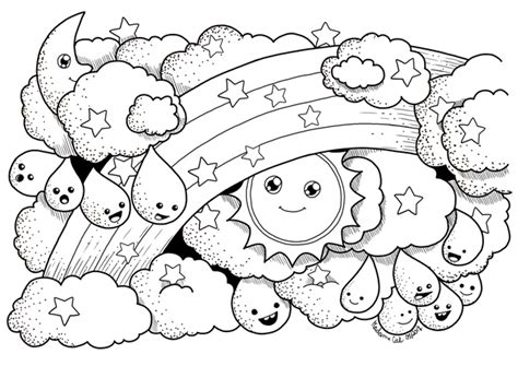 coloring pages weather coloring page weather by kacenace