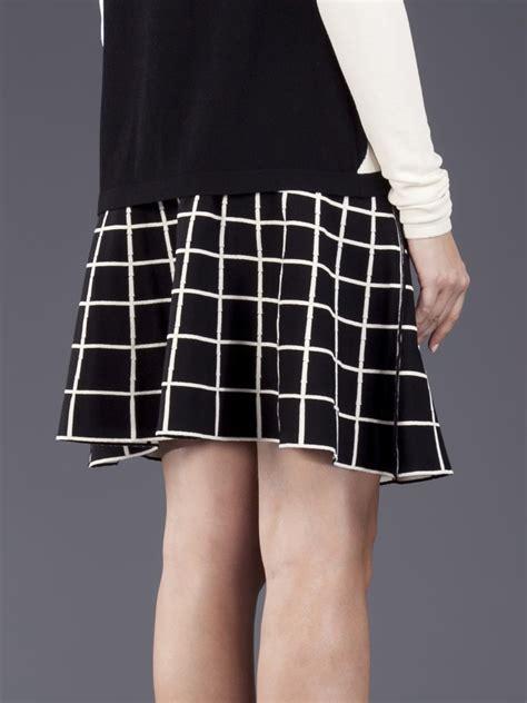 black and white grid pattern pants ohne titel grid pattern skirt in black lyst