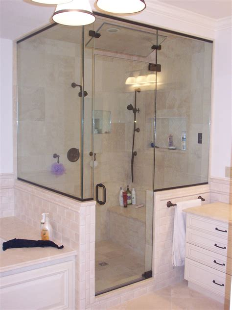 King Glass Shower Door Mirrors Custom Glass Shower Door King Shower Door Installations