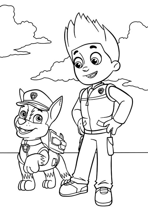 paw patrol giant coloring pages quot paw patrol quot coloring pages
