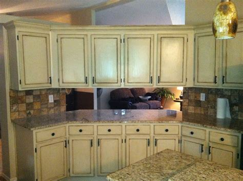 beige painted kitchen cabinets painted beige and faux finished cabinets cabinets