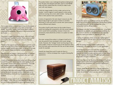 Analysis Of Product Development At by A Level Mp3 Speaker Project An Exle Of A Product