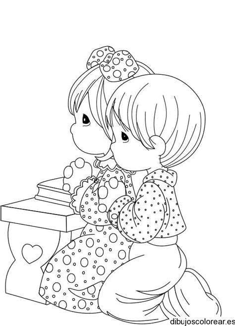 imagenes de ninos rezando para colorear dibujo de dos ni 241 os rezando