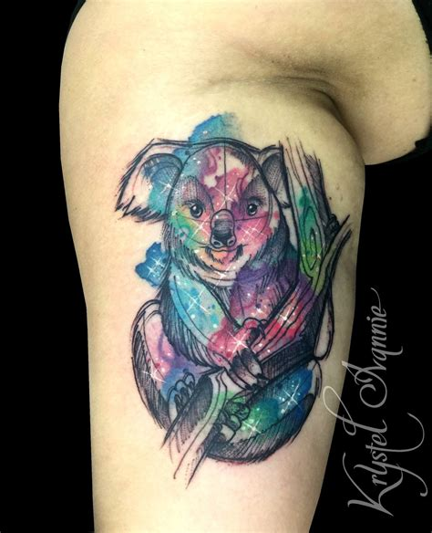watercolor tattoos vs regular tattoo traditional koala www imgkid the image kid