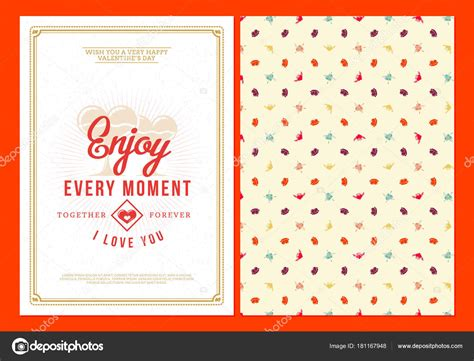 Sided Greeting Card Template by Happy Valentines Day Typography Greeting Card Vector