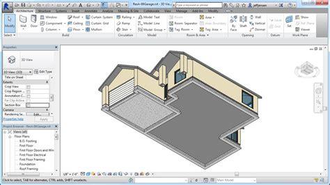 revit garage tutorial jensen s revit tutorial residential house 10 thicken