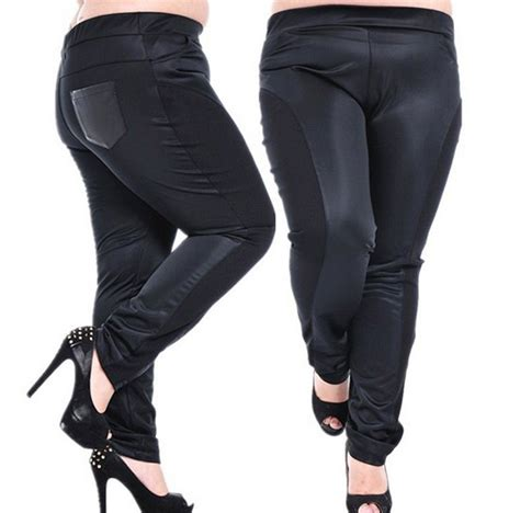 Highwaist Putih Big Size for big size pu leather big size high waist patchwork plus size