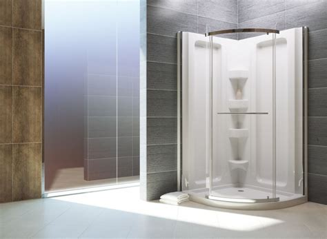 Acrylic Shower Units Mirolin Sorrento 38 Inch Acrylic Front Shower Stall