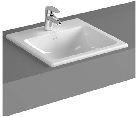 inset basin bathroom vitra s20 inset square basin 1 tap hole 3 size