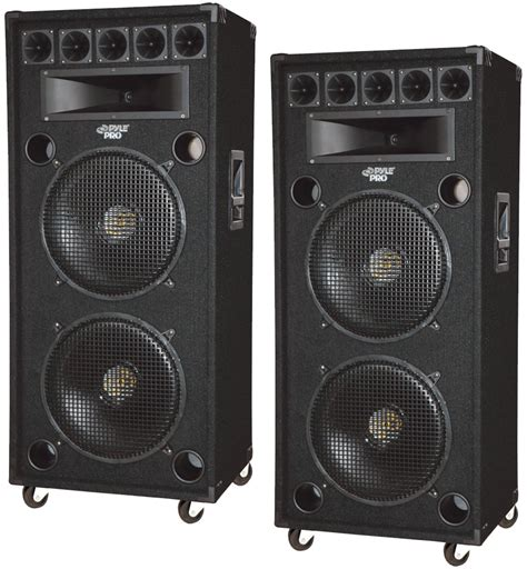 dj speaker box cabinet pyle pro audio 2 padh182 dj passive 2800 watts 8 way