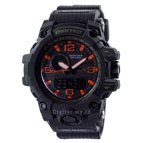 Jam Tangan Digitec Dg 2021t Black digitec mudmaster dg 2093t maharishi black orange jam