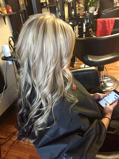 beautiful brunette hair with platinum highlights pictures hot trebd 2015 platinum blonde with lowlights and dark brown underneath