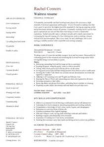 resume experience examples waitress - Sample Of Waitress Resume