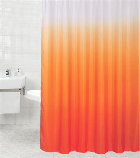 orange shower curtain shower curtain magic orange 180 x 200 cm