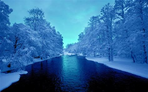 cold winter blue river 4k uhd wallpapers hd wallpapers