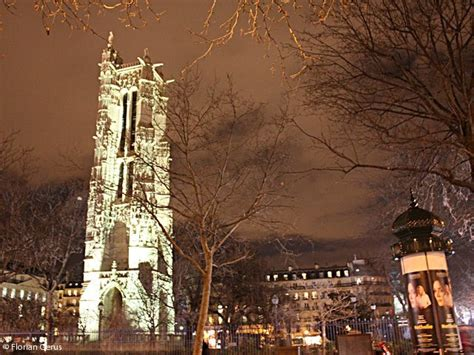 Images Christmas Decorations saint jacques tower photo by night paris
