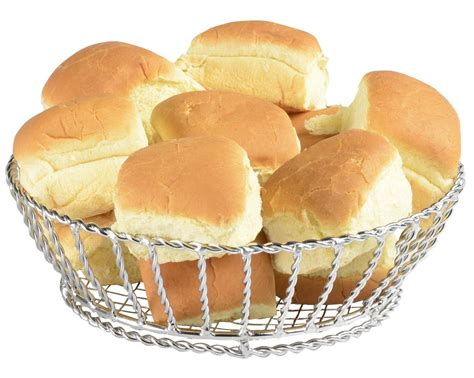 pattern for dinner roll holder restaurant bread basket chrome finished steel edged design
