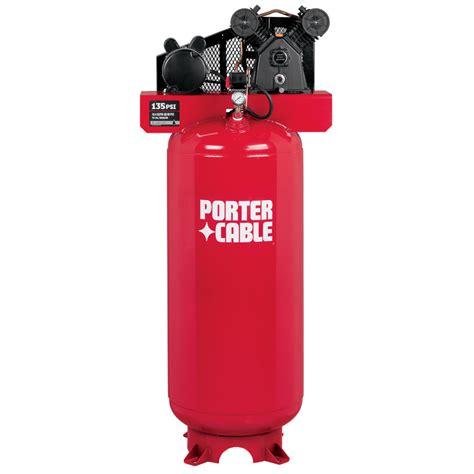 shop porter cable 3 hp 60 gallon 135 psi 240 volt vertical electric air compressor at lowes