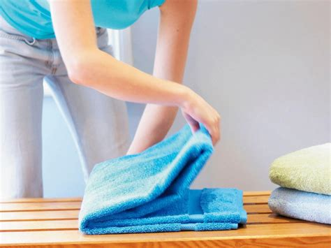how to fold a bath towel hgtv