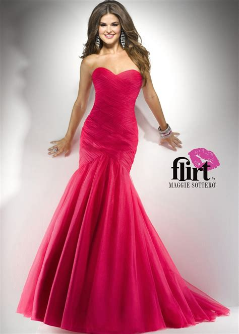 Loving this Funky Pink Strapless Mermaid Prom Dress