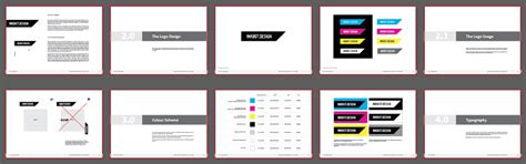 free brand guidelines template for download pdf logo