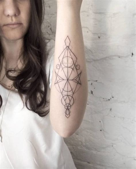 geometric forearm tattoo 40 geometric designs for and tattooblend