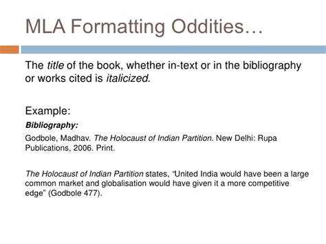 Mentioning Book Title In Essay Mla by School Wide Standard Citation