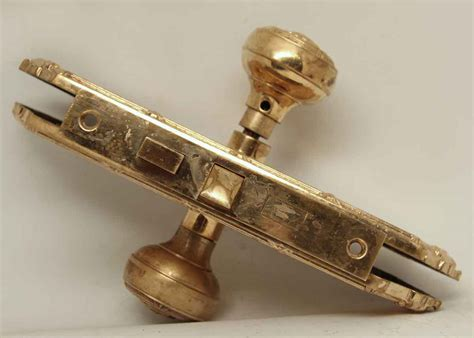 Gilded Door Knob by Gilded Knob Set With Emblematic Detail Olde Things