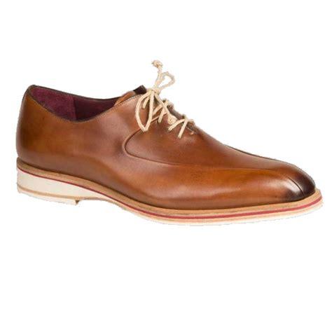 bike toe shoes mezlan lehman calfskin bicycle toe shoes cognac