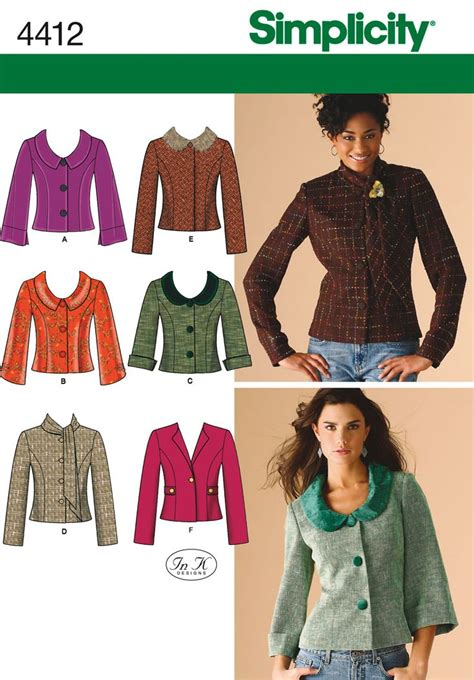 pattern sewing buy womens and petite jacket sewing pattern 4412 simplicity