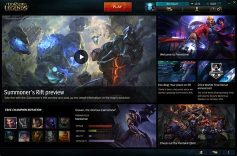 zed menu patcher landing page refresh on the way league of legends