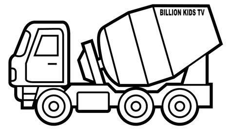 mixer truck coloring page front loader construction vehicle coloring page