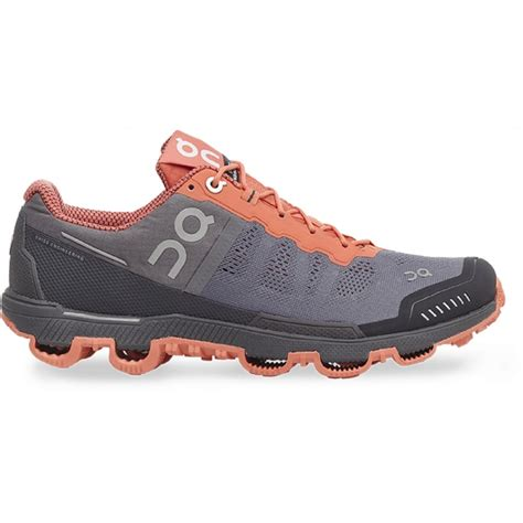 running on the shoes the on cloudventure in grey and lava for at
