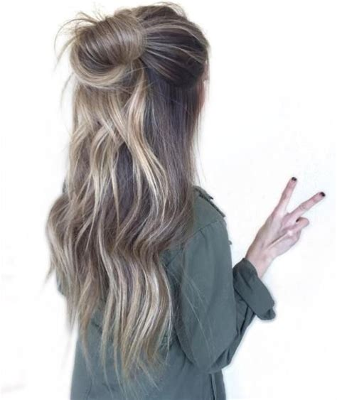 half messy bun messy half updo www pixshark com images galleries with