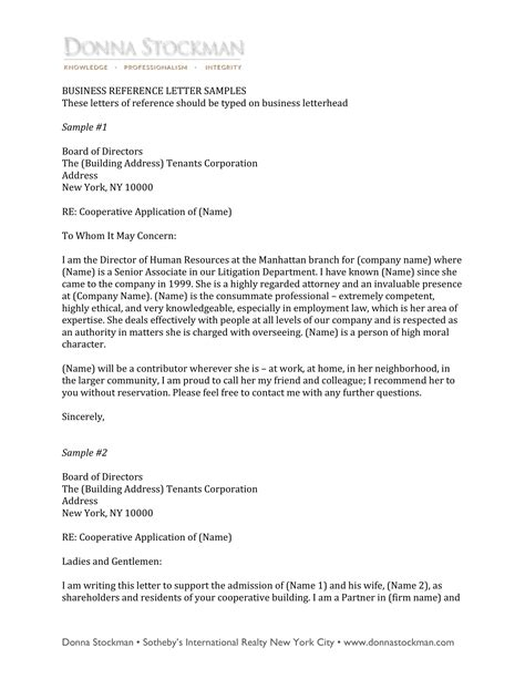 10 Business Reference Letter Exles Pdf Letter Of Recommendation Template For