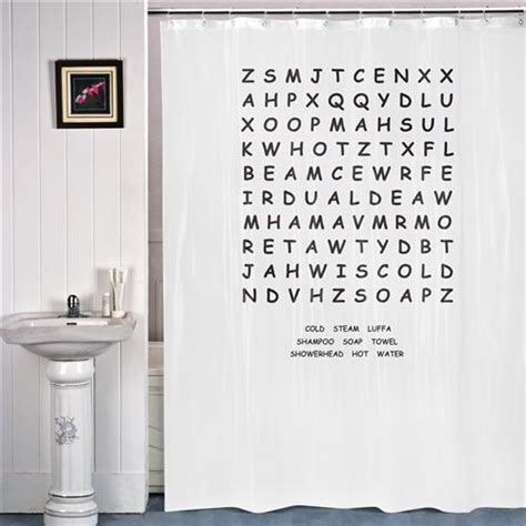 curtains with words wholesale iggi word search shower curtain bathroom gift