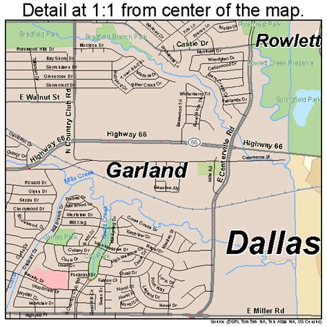 where is garland texas on map 302 found
