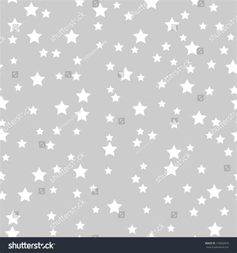 wallpaper grey with white stars seamless pattern white stars on gray stock vector