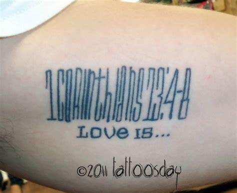 1 corinthians 13 4 8 tattoo bible verse from quot 1 corinthians 13 verses 4 8