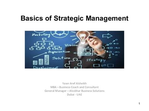 General And Strategic Management Mba by Basic Concepts Of Strategic Management