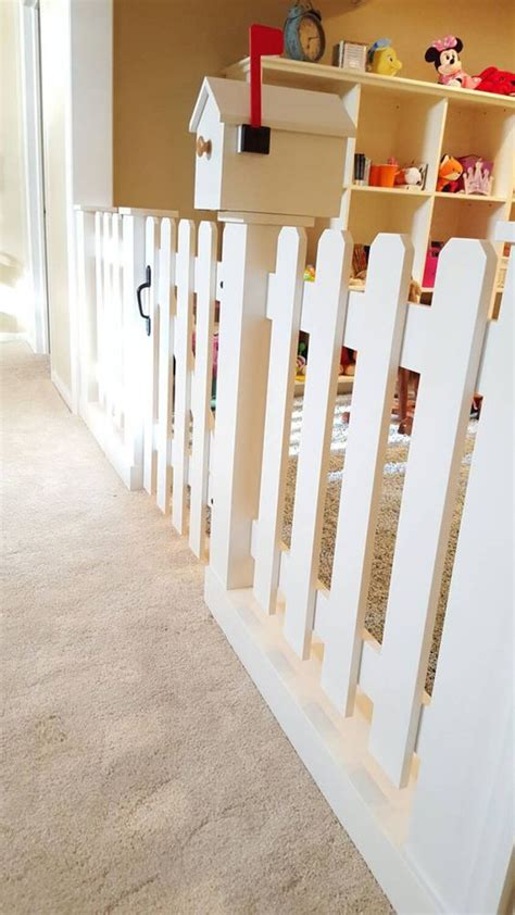 Picket Fences Upstairs Loft And The Games On Pinterest Baby Room Divider