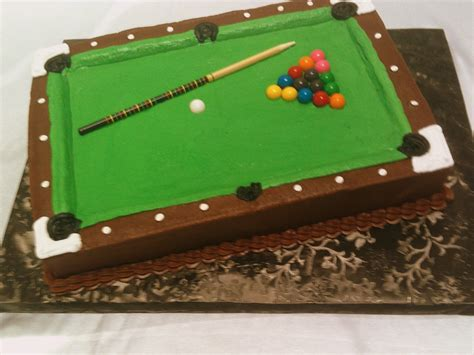 pool table cake decorated cakes cupcakes