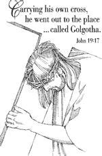 coloring pages jesus carrying cross 1000 images about sunday school clipart on