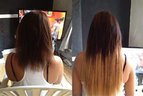 how to dye in hair extensions dip dye hair extensions