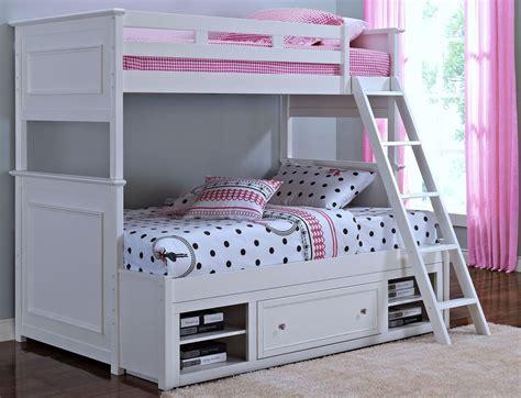 megan youth white bunk bedroom set   classics     coleman furniture