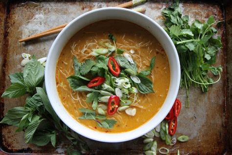 spicy thai curry noodle soup heather christo