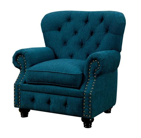 teal tufted accent chair stanford teal tufted fabric chair usa furniture